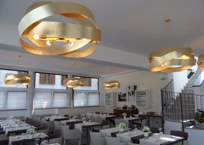 Marchetti illuminazione realizations suspension gold lamps